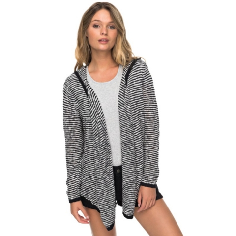 Vermont Escape Stripe Hooded Cardigan