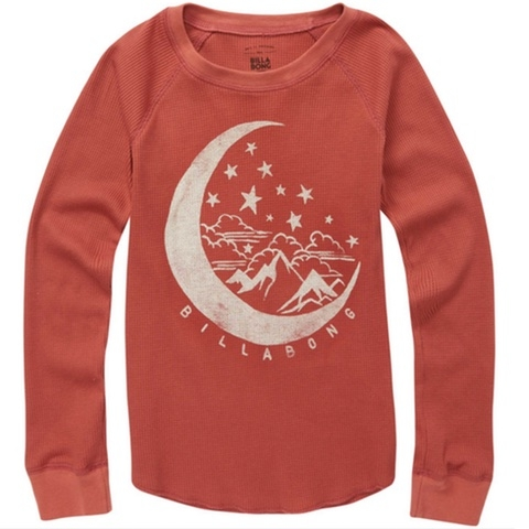 Over The Moon Thermal Long Sleeve Tee