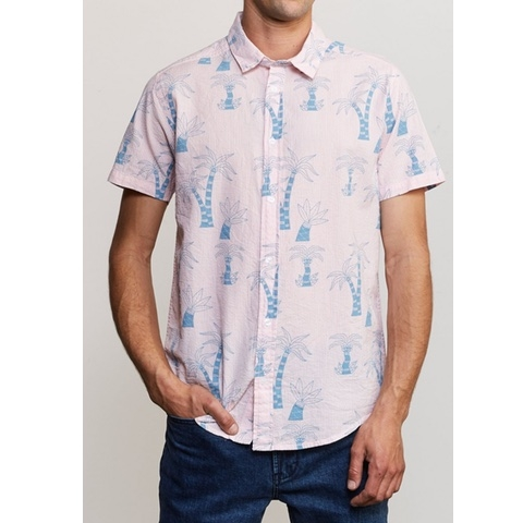 Liu Wong Palms Button Up Shirt