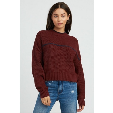 Jammer Cropped Knit Sweater