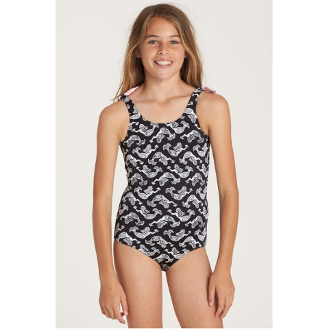 GIRLS' CONCH'D OUT ONE PIECE SWIM