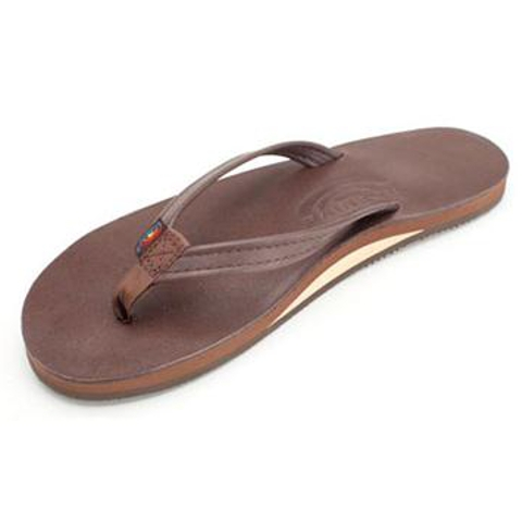Single Layer Premier Leather with Arch Support and a Narrow Strap