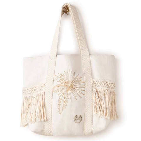 Happy Summer Embroidered Beach Bag