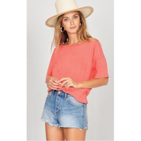 ANDI SOLID CROP TEE