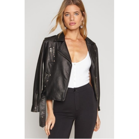 BLACKHAWK VEGAN LEATHER JACKET