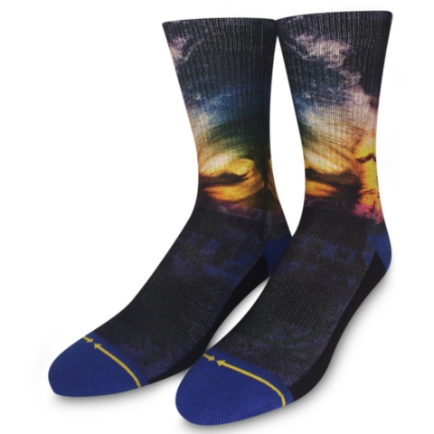 Rainbow Wave Socks