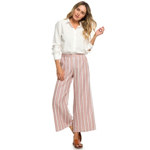 Midnight Avenue Striped Wide Leg Pants