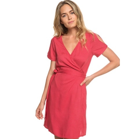 Monument View Short Sleeve Wrap Dress