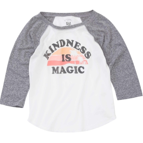 Kindness is Magic Raglan Top
