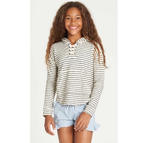 Girls Side To Side Hooded Sweatshirt