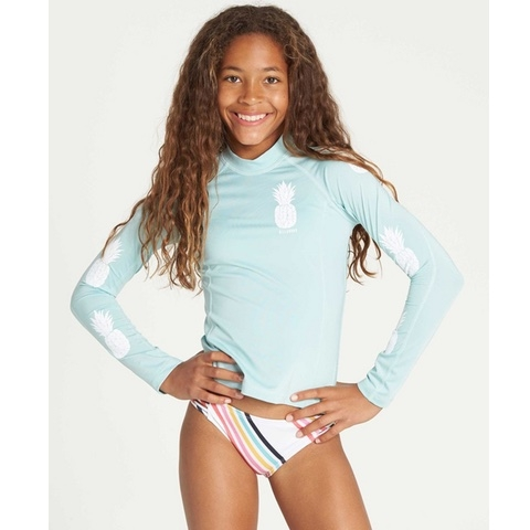 Girls Surf Dayz Performance Long Sleeve Rashguard