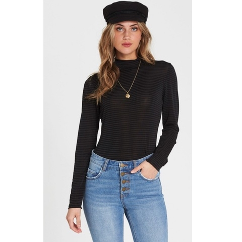 Get Right Mock Neck Long Sleeve Top