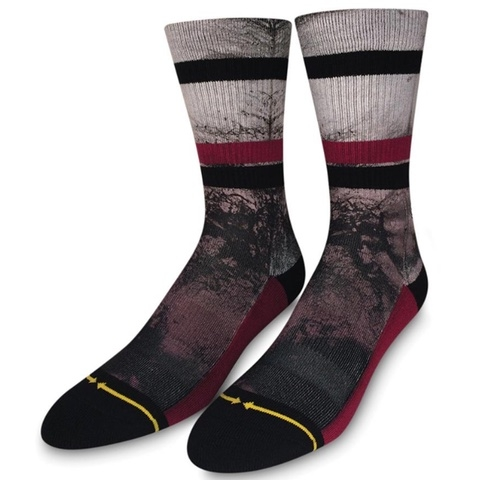 Tentacles Burgundy Classic Crew Socks