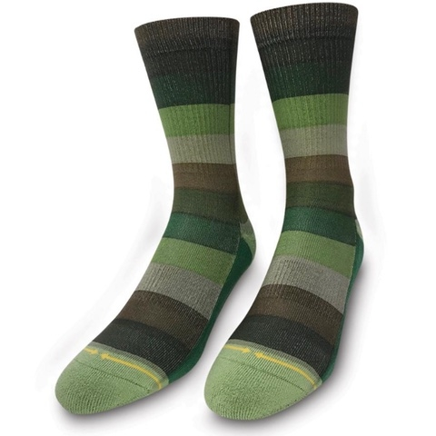 Green Stripes Classic Crew Socks