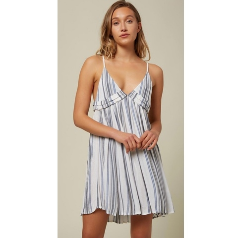 Saltwater Solids Stripe Tank Dress Cover-Up