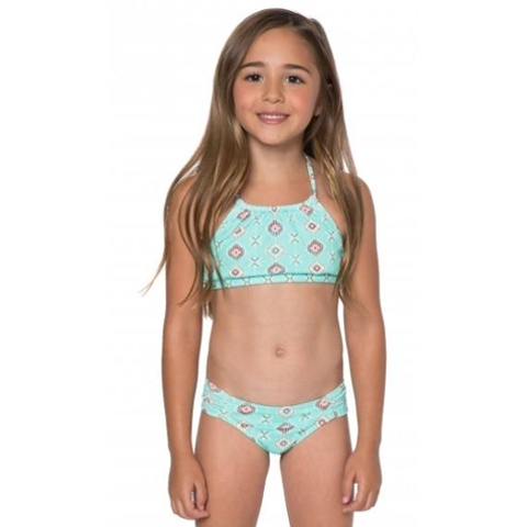 LITTLE GIRLS ROCKY HALTER SET