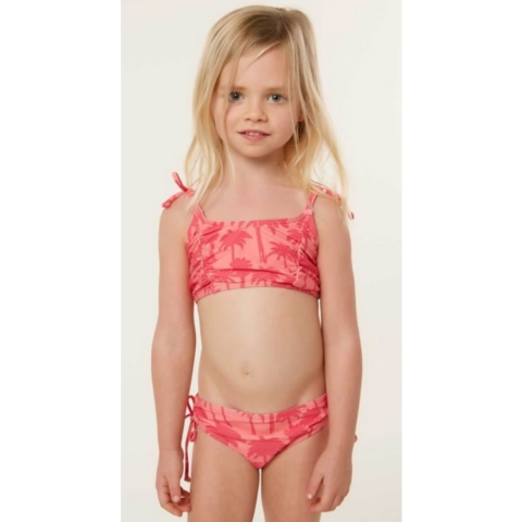 LITTLE GIRLS PALM SWIM SET