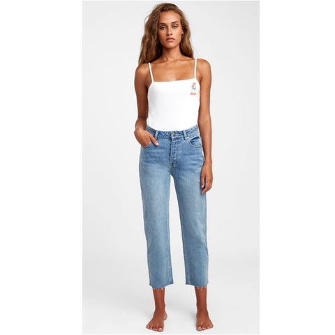 Holli High Rise Straight Jeans