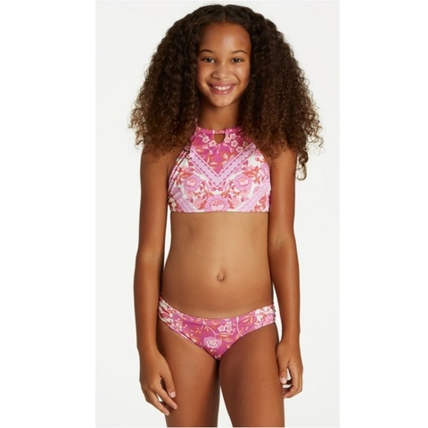 Girls Take A Trip High Neck Swim Set