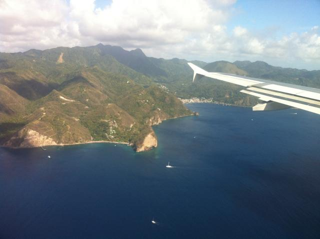 Flying Past Pitons
